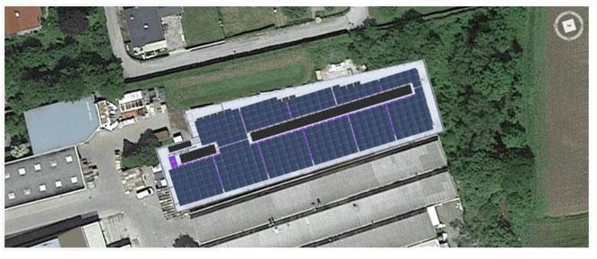 Neue Halle für das Produktionsmaterial mit Photovoltaik Anlage ©KTM Fahrrad
