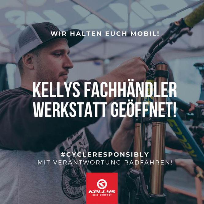 Kellys Bicycles #cyclereponsibly Werkstatt GEÖFFNET