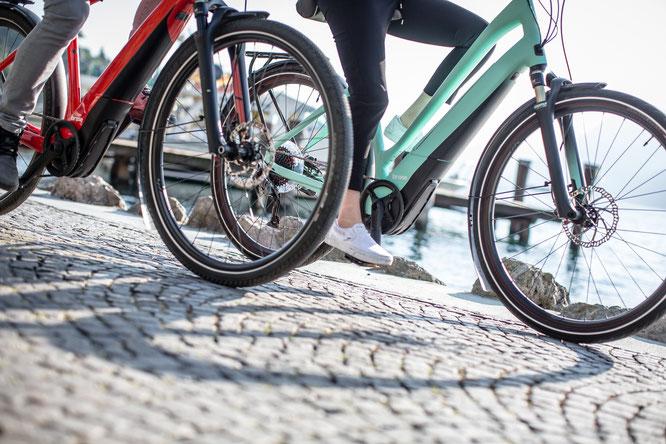 Dank des sanften Ansprechverhaltens fahren sich City-Bikes mit dem Brose Drive C besonders entspannt und harmonisch. / Foto: Brose