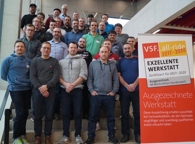 28 Absolventen der VSF..all-ride Werkstattschulung erlangten wertvolles Fachwissen