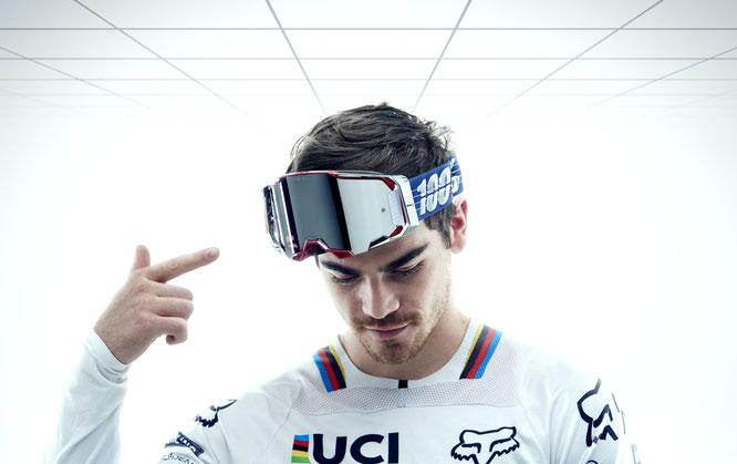 100% Limited Loic Bruni Signature Armega Goggle