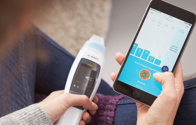 In der Vivatmo App können die mit dem Patientengerät Vivatmo me durchgeführten FeNO-Messungen protokolliert werden und es lässt sich ein Asthma-Tagebuch führen.