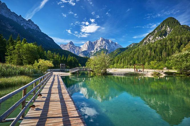 Der Jasna-See bei Kranjska Gora wartet auf Gäste zur Eröffnung Sloweniens  ©www.slovenia.info, Tomo Jeseničnik