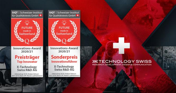 X-Technology Swiss R&D als innovativster Schweizer Sportartikelhersteller gekürt