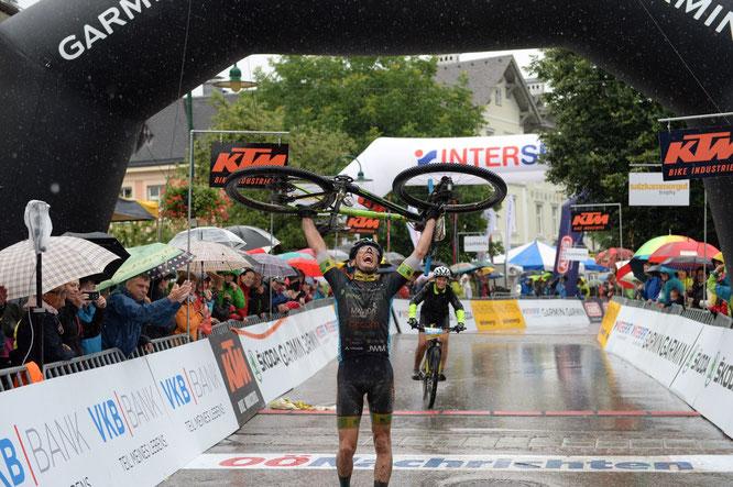 Lukas Kaufmann im Ziel / Trophy2019 ©Joachim Gamsjäger
