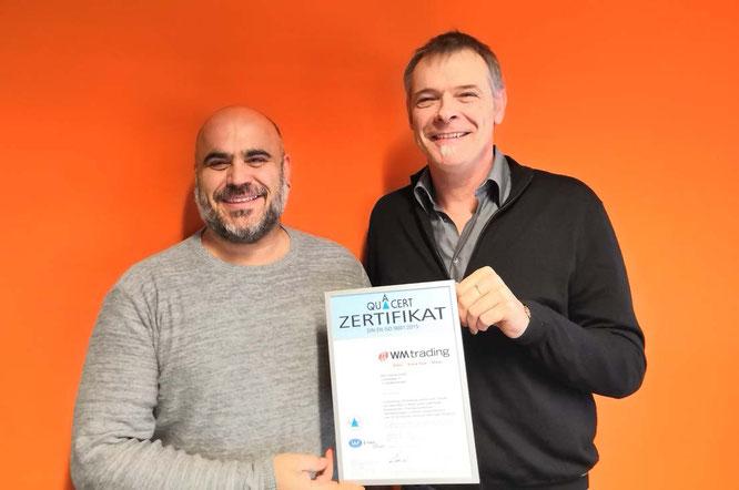 Von links nach rechts: Tim Sanna (Qualitätsbeauftragter) und Axel Keller (Geschäftsführer) / Foto: WM trading