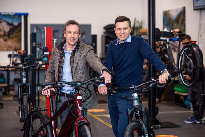 Rebike Gründer, Sven Erger und Thomas Bernik (vlnr) / Foto: M. Garvelmann für Rebike Mobility