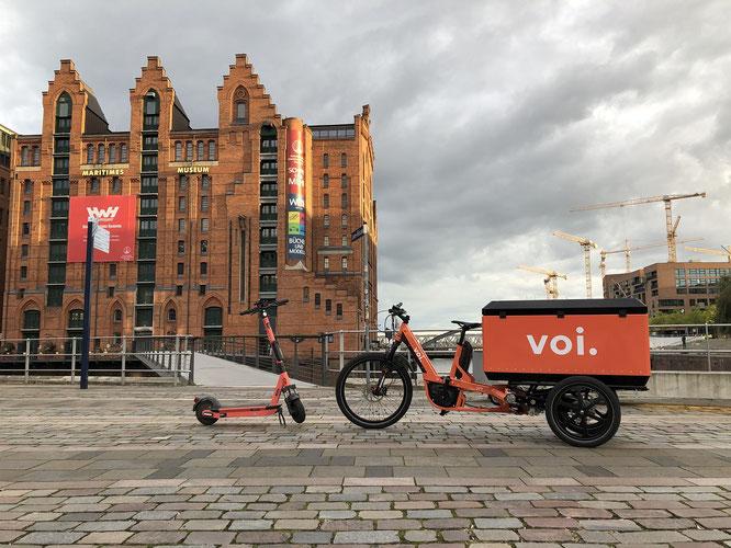 Voi: Nachhaltige E-Scooter-Logistik - Voi nimmt erste eigene E-Vans und E-Cargobikes in Betrieb