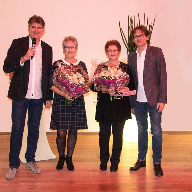 Ehrungen Mitarbeiter: von Links nach Rechts - Oswald Miethsam / Anna Bär / Lilia Gerber / Hartmut Ortlieb