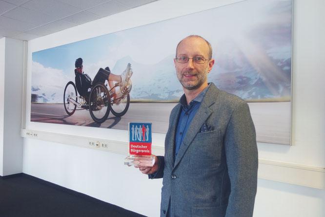 Geschäftsführer Paul Hollants, der bei der Preisverleihung anwesend war