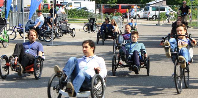 Weltweit führend bei Liegedreirädern: Die 23. Internationale Spezialradmesse in Germersheim zeigt unterschiedlichste Trikemodelle.