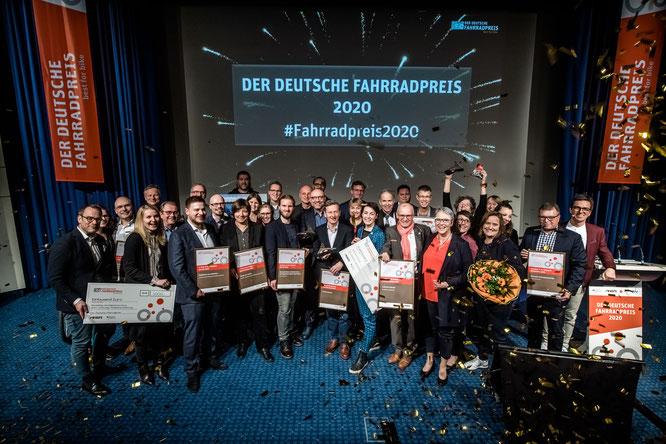 Pressefoto zur Preisverleihung des Deutschen Fahrradpreises 2020 (Credit: Andreas Endermann /Deutscher Fahrradpreis)
