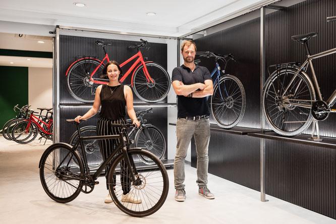 Im neuen Ampler Bikes Showroom trifft Design auf Funktion