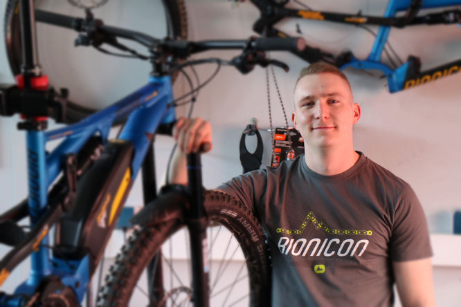 Bastian Richter ist neuer Mitarbeiter im Service Center für die Bike-Marken BIONICON und Trenoli der MSA GmbH.