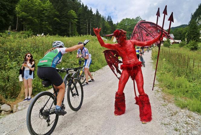 Welterberegion einmal mehr Hotspot der Bikerszene:  Streckenrekorden bei der Salzkammergut-Trophy 2018 // © Bild: Hörmandinger