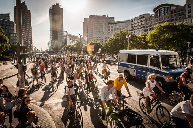 Demonstration des Volksentscheid Fahrrad/Changing Cities / Copyright: Volksentscheid Fahrrad/Norbert Michalke