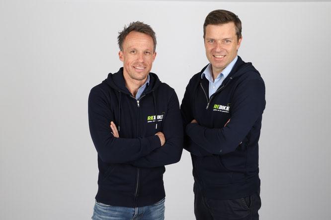 Sven Erger (links) und Thomas Bernik (rechts) sind die neue Doppelspitze von rebike1. ©rebike1