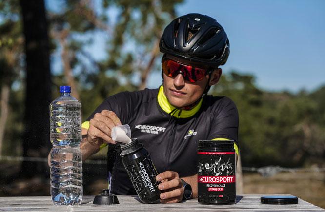 Eurosport nutrition präsentiert den Recovery Shake für extra schnelle Regeneration.