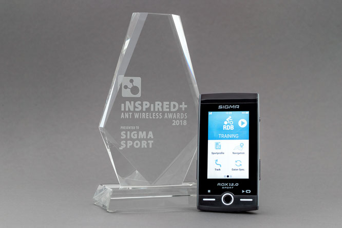 ROX 12.0 SPORT gewinnt Inspired+ ANT Wireless Award