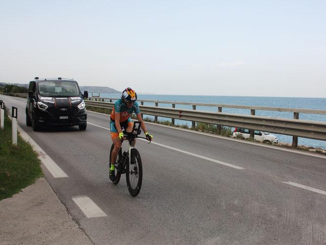 Nicole Reist - Ultracycling Adriatic Cycling Marathon 2021 / Dem Meer entlang ©Foto Crew