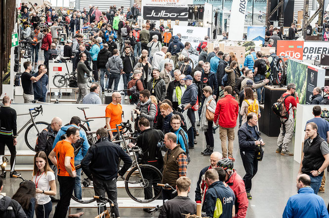 Cyclingworld Düsseldorf 2019 - Der Besucherandrang war sehr groß. ©Nils Laengner