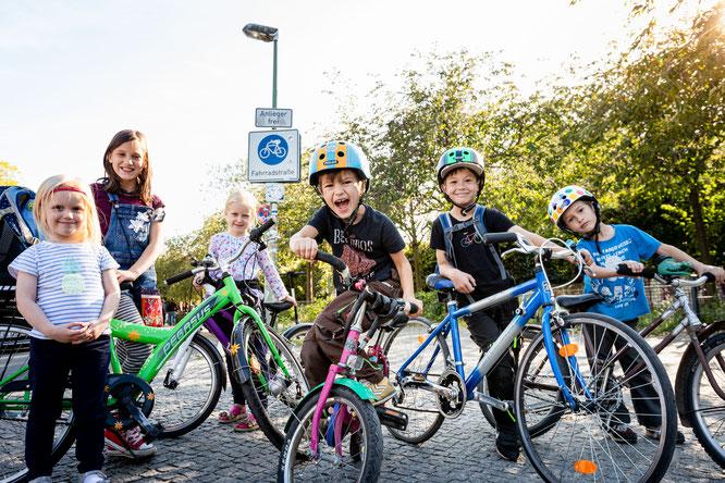 Aktiv werden! Zum Schulanfang in Mecklenburg-Vorpommern appellieren Verbände, zu Fuß, mit dem Roller oder dem Fahrrad zur Schule zu kommen © Jörg Farys
