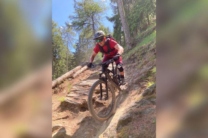 Theo Wiesthaler in Action – ab 12. Mai 2021 profitieren die Gäste des Naturhotel Leitlhof in Südtirol vom Können und Wissen des Innicher Bikeguides  Bildnachweis: Naturhotel Leitlhof