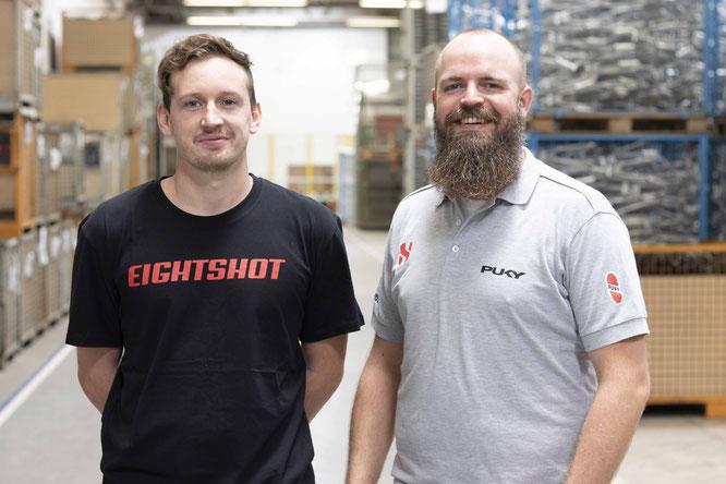 PUKY legt nach und verstärkt das Produktmanagement um zwei neue Mitarbeiter: links Pierre Grawitter, rechts Markus Krebber