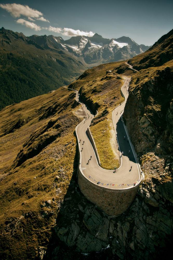 Die Radsportler am Timmelsjoch © Ötztal Tourismus