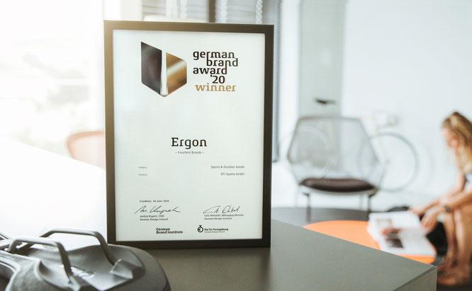 Ergon erhält German Brand Award 2020 © Ergon Bike Ergonomics