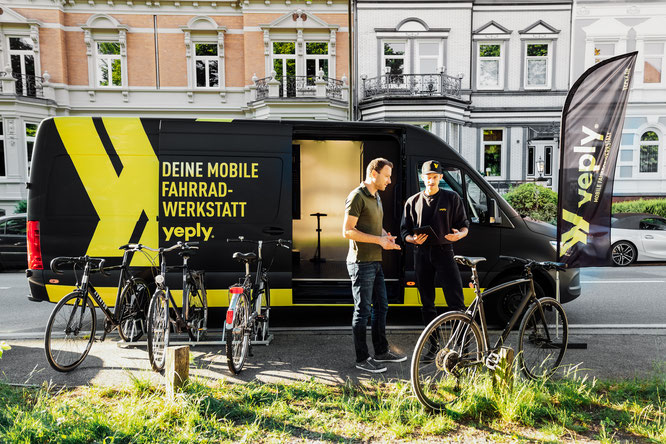 Yeply ist die mobile Fahrradwerkstatt aus Finnland ©Yeply