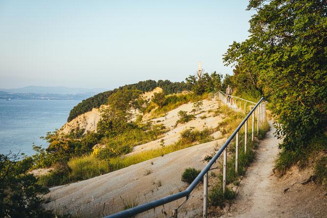 Malerische Ausblicke beim Wandern oder Radfahren im Naturschutzgebiet Strunjan  © Portorož & Piran/ Branko Furlanic