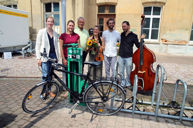 Eröffnung der Fahrrad-Selbsthilfewerkstatt am Kulturbahnhof Leisnig - Foto: Andreas Schmidt