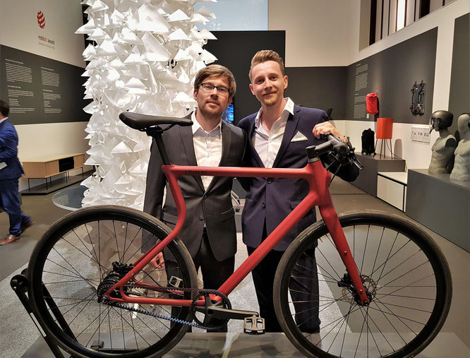 Ramon Thomas und Sebastian Meinecke im Red Dot Design Museum