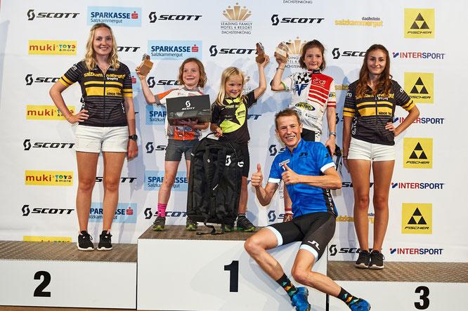 Foto Martin Bihounek: Trophy-Teilnehmer Andi Goldberger ist auch bei der SCOTT Junior Trophy als Vorausfahrer für die Kids dabei – schon am Trophy-Freitag geht er mit den Kids und Trophy-Sieger Wolfi Krenn auf eine gemeinsame Bike-Tour