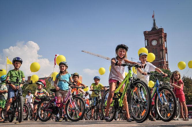 Mehr Platz, Freiräume und Spaß am Fahrradfahren / Foto: Volksentscheid Fahrrad/Norbert Michalke