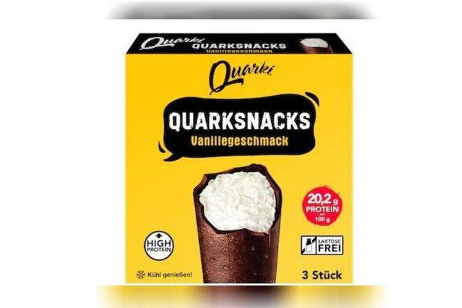 Der High-Protein-Quarksnack von Quarki ist bei Kaufland im 3erPack erhältlich.