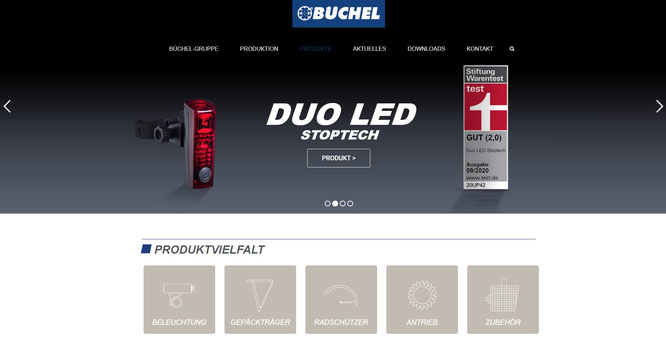 Screenshot Büchel Website