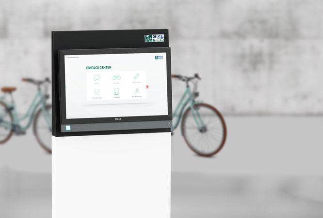 Das neue BIKE&CO BikeCenter mit der angepassten Oberfläche