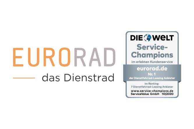Fahrradleasing-Anbieter EURORAD ausgezeichnet