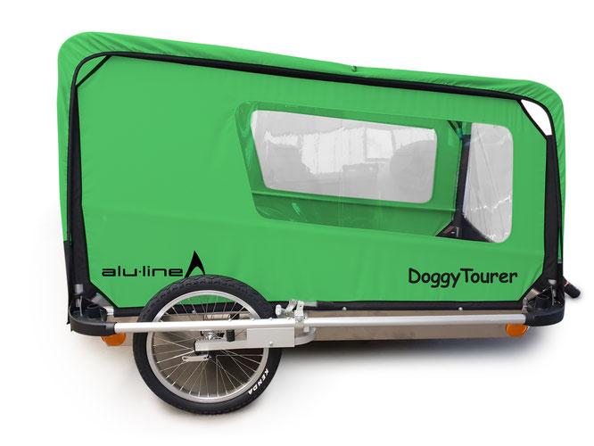 DoggyTourer stellt den neuen Fahrradanhänger XL für Hunde vor