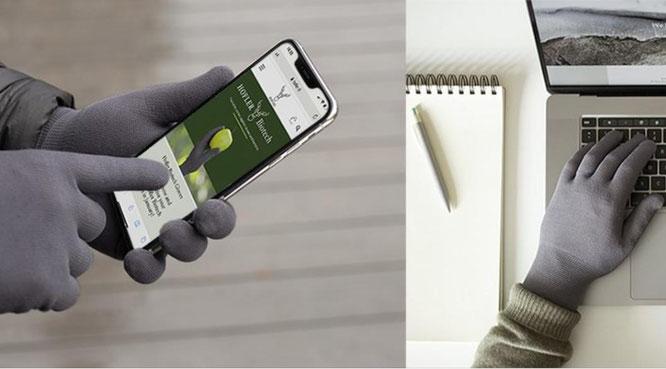 Ein Handschuh, der Viren und Bakterien zu mindestens 99 % eliminiert.
