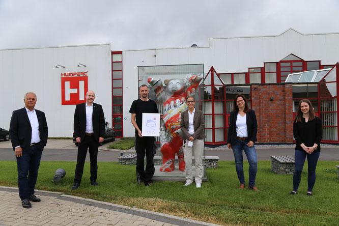 v.l.n.r.: Wilhelm Humpert, Markus Helms, Mirko Weise, Martina Schäfers, Jennifer Schmitte, Vanessa Funke