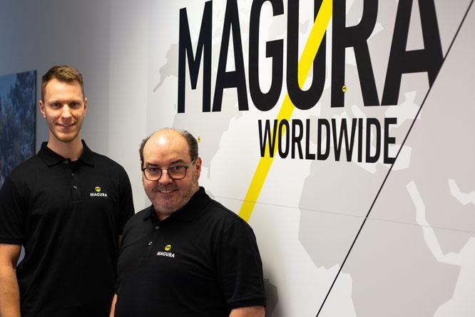 Bremsenspezialist MAGURA erweitert seinen Global Tech Support um die Personalien Bernd Kästle (re.) und Thorsten Pelger (li.)