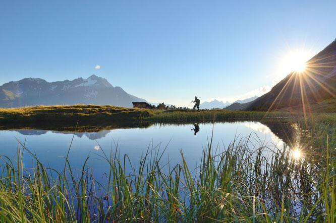 In der Urlaubsregion St. Anton am Arlberg/Österreich erleben Sommergäste ab 3. Juli 2020 wieder alpines Naturkino. Bildnachweis: TVB St. Anton am Arlberg/Fotograf Josef Mallaun