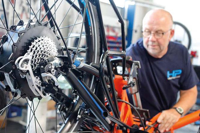 Ein Thema, dem viel Aufmerksamkeit zuteil wird: Motoren von GO SWISSDRIVE / Foto: HP VELOTECHNIK