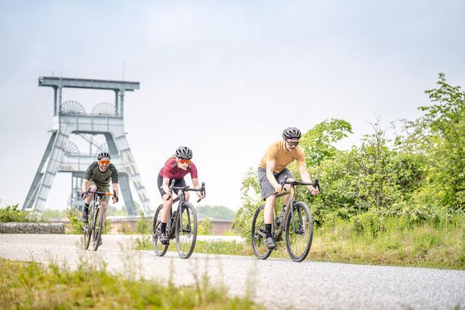Die Zeche Ewald und die Halde Hoheward sind Schauplatz der Premiere der SCHWALBE GRAVEL GAMES / Fotos: Bike Projects/Dennis Stratmann