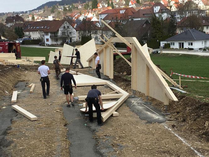 Foto vom Bau der Brücke: ©Skyder Sportpromotion