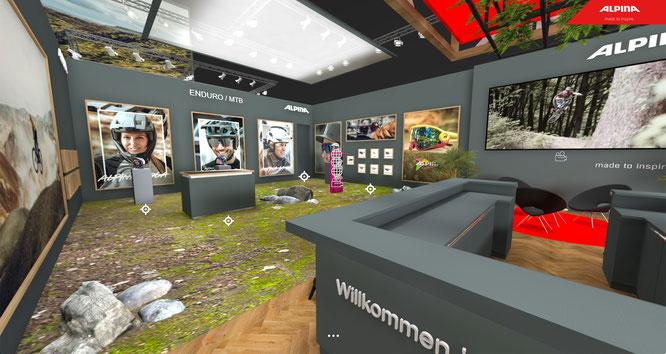 Die Alpina-Webseite lädt dazu ein, über einen Link in den virtuellen Showroom von ALPINA einzutreten