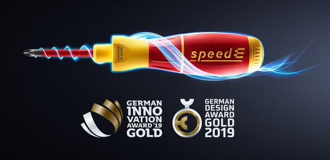 © Wiha // Doppelt GOLD für Wiha – jetzt holt speedE auch noch den German Innovation Award 2019 in Gold